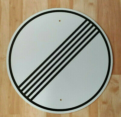 "Full Size German Autobahn Sign  /""NO SPEED LIMIT/""   Reflective Euro Car Decor"