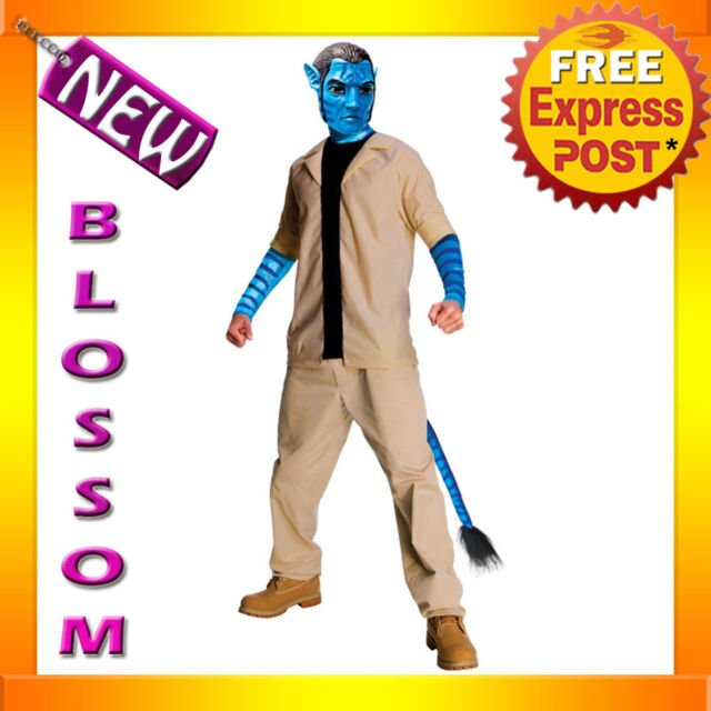 C160 Licensed Mens Avatar Movie Jake Sully Halloween Fancy Dress Adult Costume