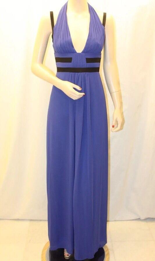 New w tag  BCBG Max Azria Margarette Contrast Trim Pleated B2808 Dress Sz 4