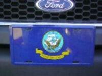 U.s. Navy Crest Emblem Flag 6x12 License Plate Sign