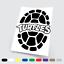 Adesivi in vinile Wall Stickers Prespaziati Tartarughe Ninja Auto Notebook Pc