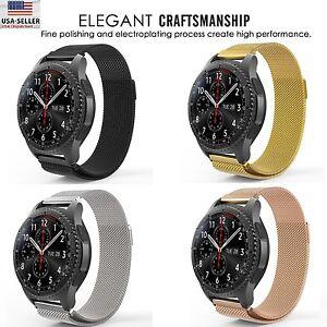 Milanaise-Boucle-Magnetique-Ruban-d-039-acier-pour-Samsung-Galaxy-Watch-42mm-46mm-R800-R810