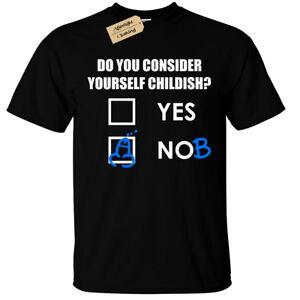Considerez-vous-comme-pueril-T-Shirt-Homme-Drole-Grossier-Blague-Cadeau-Top