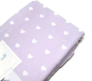 Pottery-Barn-Kids-Purple-Heart-Flannel-Cotton-Full-Queen-Duvet-Cover-2-Shams-New