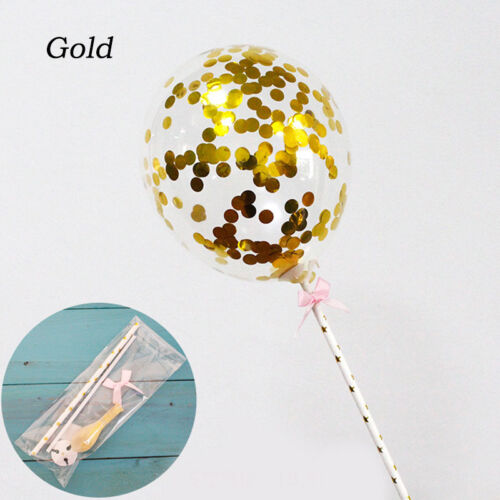 1 PC Transparent Confetti Latex Balloons Cake Insert Party Topper Baby Shower