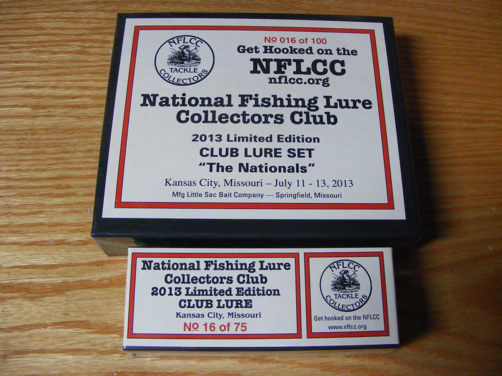 2013 Nationals NFLCC Club Lure Set made by Little Sac Bait Co with Special Lure