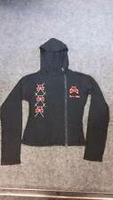 NEW Death Kitty Black/Red Cat X-Bones Jacket Hoodie Goth/Emo/Cute/Kawaii Sz S/M