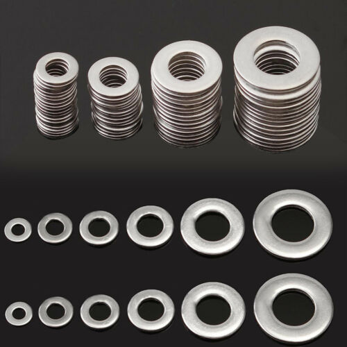 105PCS M3 M4 M5 M6 M8 M10 304 Stainless Steel Metric Flat Washers Tool Kit #