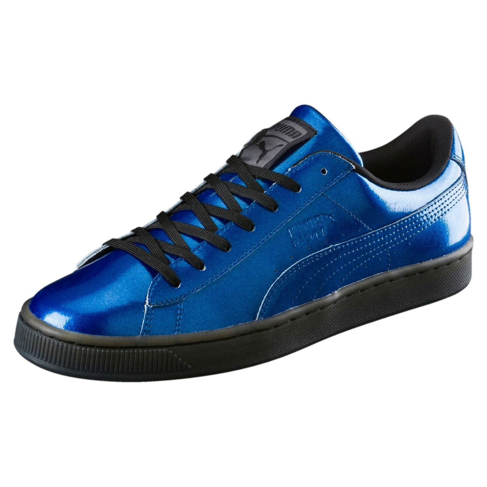 PUMA Men's Basket Classic Explosive Fashion Sneaker - Size 10 True bluee Black