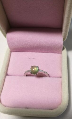 Certified 2CT Natural grape stone sterling silver Ring adjustable size