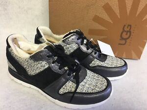 cd47ab0c8d7 Details about UGG Australia Deaven Sneaker Athletic Fashion Shoes Black  Tweed 1012177 Trainers