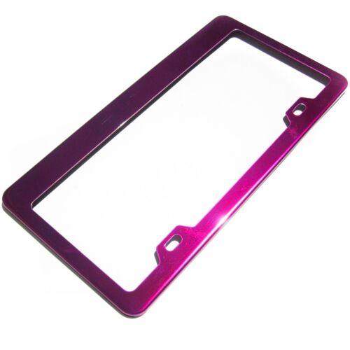 Pink Chrome Stainless Steel License Frame Fiat Honda Toyota Audi Subaru Scion