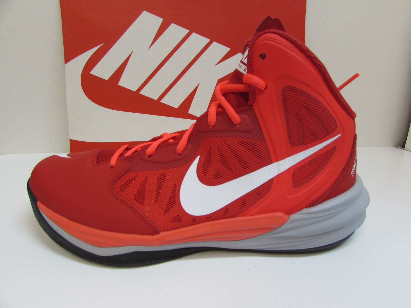 Nike Size 12 Hi  Red Prime Hype Hi 12 Tops Sneakers New Mens Shoes 91c7a5