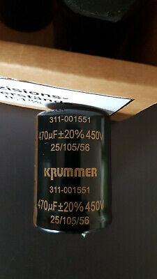 SELTEN HOCHVOLT KONDENSATOR 4,7µF 450V= ELKO gepolt D12x20mm stehend   2x 25145