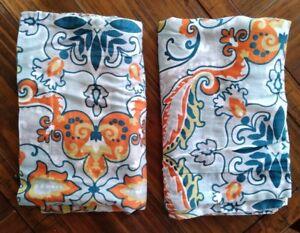Max-Studio-Home-Set-of-2-Standard-Pillow-Shams-Abstract-Pattern-Blue-Orange