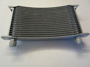 Suzuki GSXR Oil Cooler radiator. Curved 19 Row. -8AN Fittings 300mm width