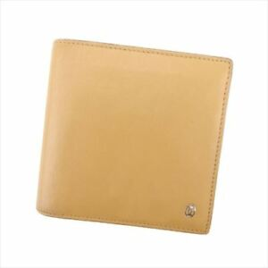 Cartier-Wallet-Purse-Bifold-leather-Beige-Woman-unisex-Authentic-Used-T8122