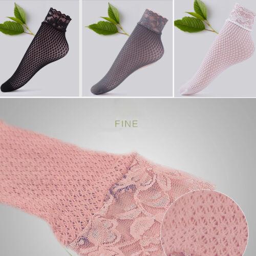 Fashion Women Lace Floral Hollow Ventilation Socks Net Socks Short Slim Socks