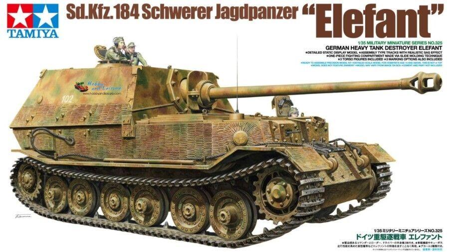 1 35 Tamiya Kit Wagon SD Kfz 184  Schwerer Jagdpanther Elefant + 3 Soldiers 35325  jusqu'à 65% de réduction