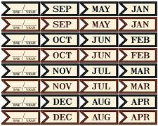 12 CIRCLE CHIPBOARD CARDS scrapbooking 99 CENT SALE! JBS 2010 Calendar Cards