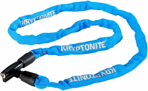 Kryptonite Keeper 411 Chain Lock with Key 4 x 110cm Blue