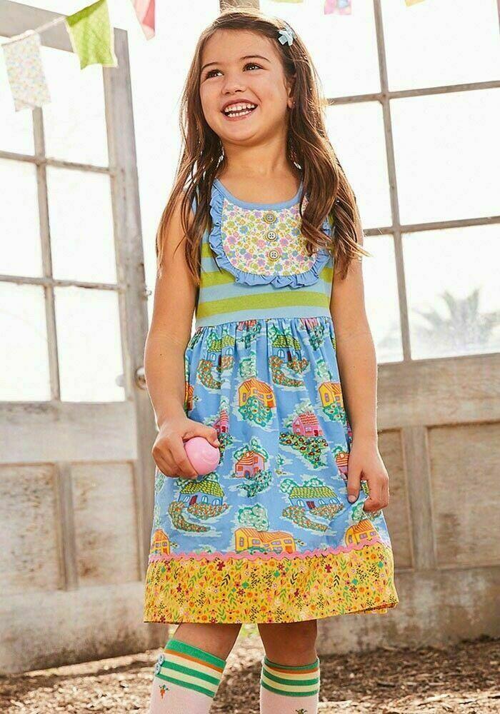 Brilliant Daydream Matilda Jane Girls sz 2 Make A Wish Dress Blue Floral Tutu