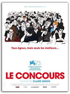 Affiche-120x160cm-LE-CONCOURS-2017-Claire-Simon-Documentaire-NEUVE