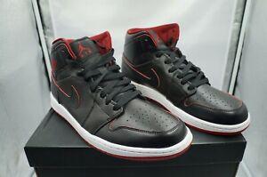 Nike Air Jordan 1 Retro Mid Black Red