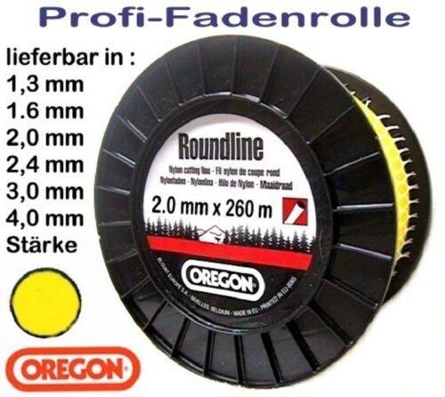 Freischneider Mähfaden 2,0 mm x 260m Oregon Spule Roundline rund gelb Motorsense