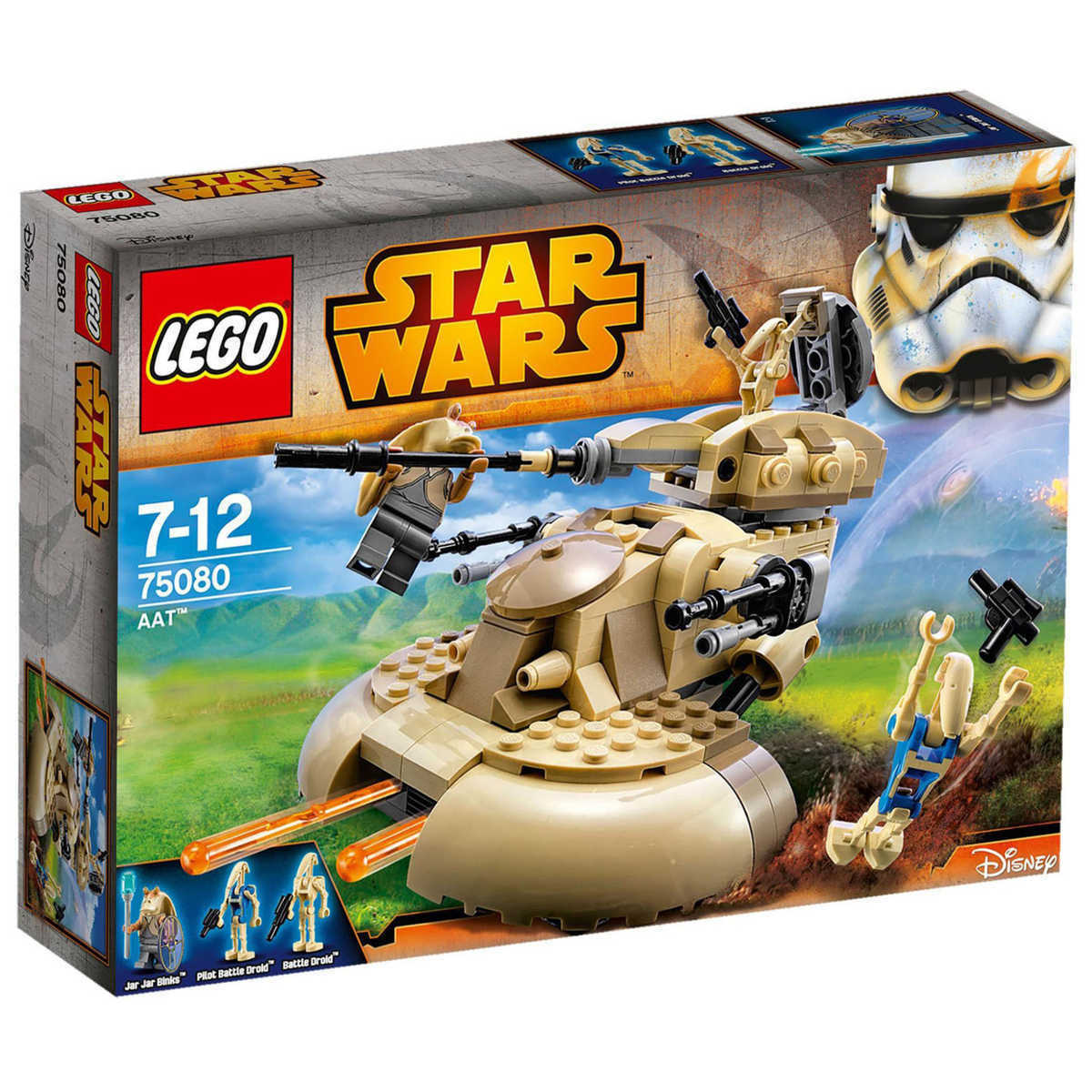 Lego Star Clone Wars 75080 ARMOUrosso ASSAULT TANK ATT Jar Jar Binks Minifig NISB