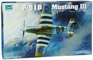 Raf Mustang Iii P-51 B / c modèle Trumpeter en plastique au 1/32