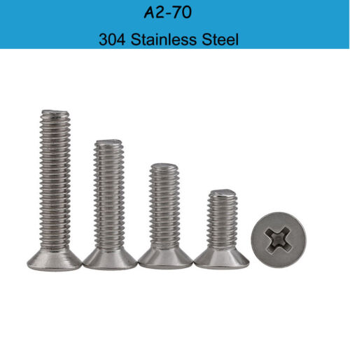 100pcs m1.6*4 ~ 16mm screw cross flat countersunk phillips screw ss304