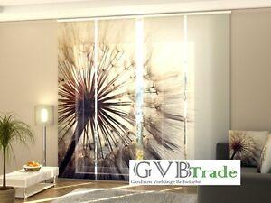 Auf Maß Window Treatments & Hardware Fotogardinen Blumen Schiebevorhang Schiebegardinen Vorhang Gardinen 3d