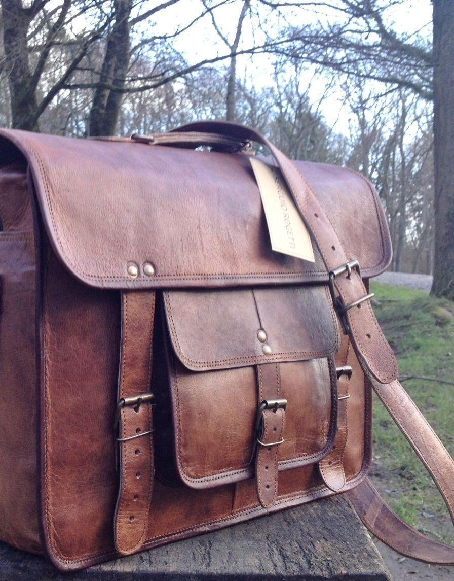 Laptoptasche Messenger Messenger Messenger Umhängetasche Laptop Leder Herren Damen Vintage Quist Bag  | Vorzügliche Verarbeitung  e417eb