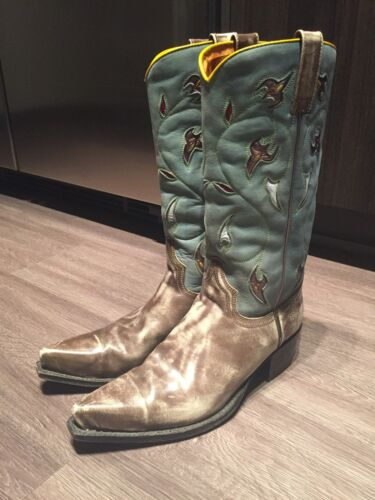 Vintage Frye Cowboy Boots Unique Color Size 7