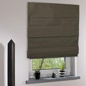 raffrollo faltrollo verdunklung raffgardine raffstore vorhang stoff rollo braun ebay. Black Bedroom Furniture Sets. Home Design Ideas