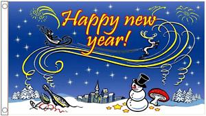 Happy New Year Celebration 5ft x 3ft Flag 150cm x 90cm
