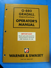 Warner And Swasey Gradall G 880 Upperstructure Operators Manual 1974