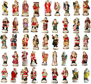 Lot-of-42-Memories-of-Santa-Collection-Ornament-Figurines-New-In-Box-Don-Warning