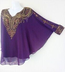 Femme Sequin Tunique Violet
