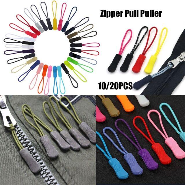 20pcs Reflective Zipper Pull Cord Zip Puller Zip Fastener Replacement Red