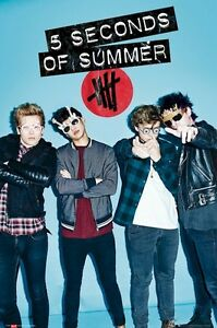 5 SECONDS OF SUMMER POSTER ~ POINT 24x36 Music Clifford Hemmings Hood Irwin