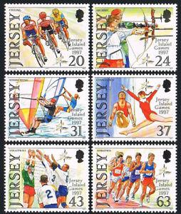 Jersey 800-805, Mnh.jersey Island Games.cycling, Archery, Volleyball, Laufen,