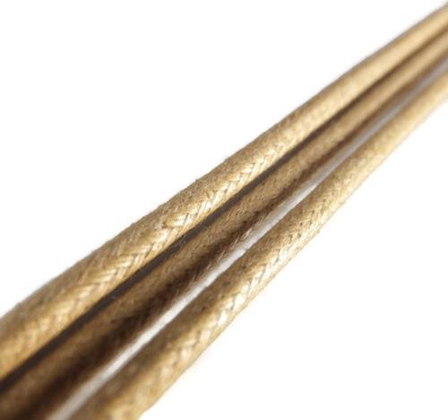 2 Metall Endstücke 20cm To 220cm 3mm Rund Gewachste Baumwolle Schnürsenkel