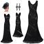 Women-Size-8-10-12-14-Flapper-Vintage-1920s-Dress-Gatsby-Evening-Long-Prom-Party thumbnail 13