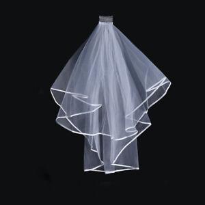 Bridal-Veil-Comb-White-Bride-Hen-Night-Wedding-Party-Accessories-Handmade