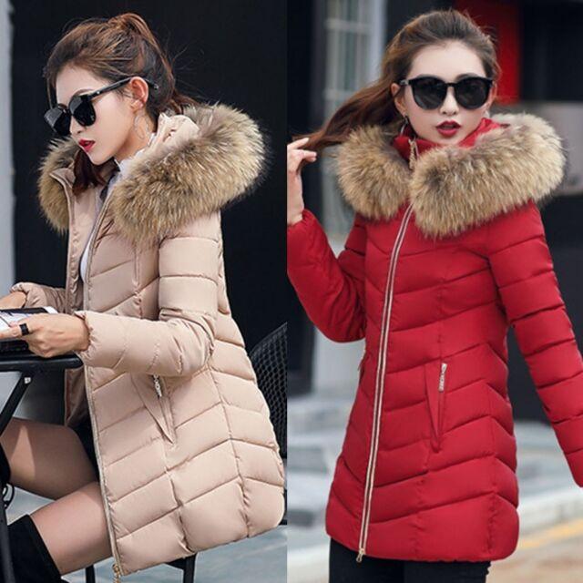 Femme Hiver Doudoune Blouson Manteau Capuche Chaude Cotton Jacket