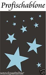 Schablone, Sterne, Stern, Wandschablone, Wandschablonen, Deko ...