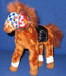 TY SECRETARIAT he HORSE BEANIE BABY - 1973 TRIPLE CROWN WINNER - MINT TAGS