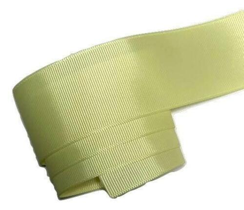 "3 yards Light yellow 1.5/"" grosgrain ribbon by the yard DIY hair bows"